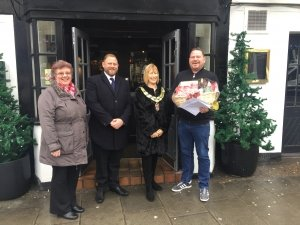 Rayleigh businesses in the frame as Palmers Solicitors presents prizes in Christmas shop front competition