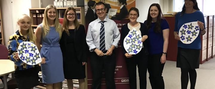 We 'wear it blue' for Dementia Awareness Week