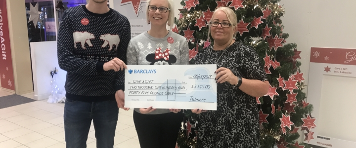 Palmers Solicitors raises more than £2,000 to help 'Give a Gift' this Christmas